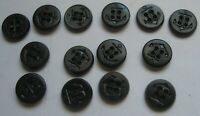 "Vintage US Navy Anchor Buttons Fourteen Black 5/8"" Plastic"
