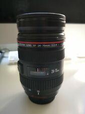 Canon EF 24-70 mm f2.8l USM objetivamente + lente Canon bolsa + Hoya de vidrio contra