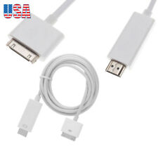 1.8M Dock Connector to HDMI HDTV Cable Adapter Converter iPhone 4/4S iPad 1/2/3