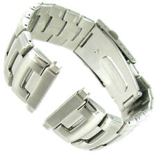 18-22mm Milano Solid Link Stainless Steel Fold Over Buckle Mens Watch Band XLONG