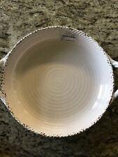 Tommy Bahama Large Melamine New Handled Serving Bowl Cream/white