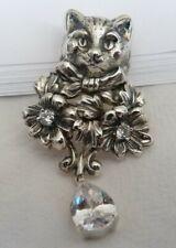 schönes Kätzchen  Anhänger Trachtenschmuck  925 silber