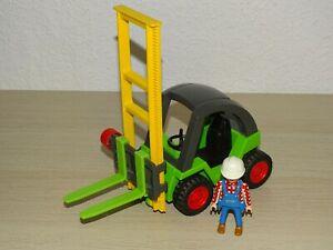 Playmobil grüner Gabelstapler