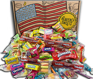 American Candy Gift Box Hamper   Party Mix Celebration   Over 120 Sweets   Nerds