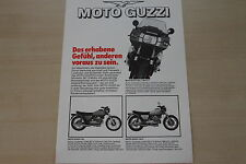 166177) Moto Guzzi - Modellprogramm - Prospekt 198?