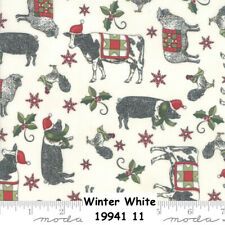 Christmas Fabric By The Yard Moda Winter Village White Quilting Cotton Moda Christmas Fabric Nutcracker Fabric TheFabricEdge