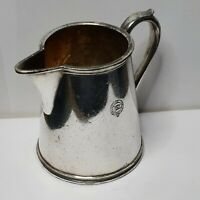 Anchor line on board 1920s Silver plated tankard jug elkington plate H 9cm