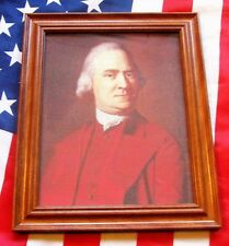 Framed Painting on canvas, Portrait of Samuel Adams, Patriot / Founding Father