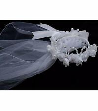 BONNIE JEAN® Glitter Beaded First Communion/Flower Girl Tiara Veil NWT