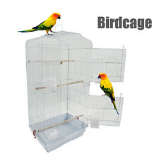 """37"""" Convenient Steel Bird Cage For Small/Medium Parrots W/Wood Perches&Food Cups"""