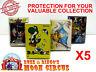 5X NINTENDO FAMICOM LARGE CIB GAME - CLEAR PLASTIC PROTECTIVE BOX PROTECTORS