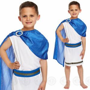 BOYS CAESAR FANCY DRESS COSTUME ROMAN EMPEROR TOGA GREEK KIDS WORLD BOOK DAY NEW