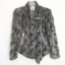 BB Dakota Faux Fur Gray Jacket Sz XS