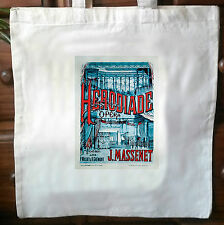 Vintage French advert retro cotton cream tote bag No1