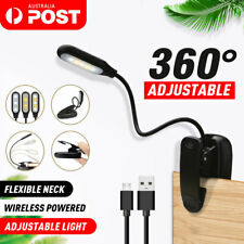 LED Book Reading Book Light Clip on Bed Rechargeable 3-level Brightness Lamp