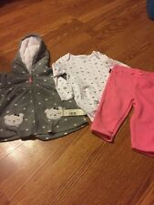 New Girls 12 Month Little Wonders 3 Piece Set Jacket Pants One Piece