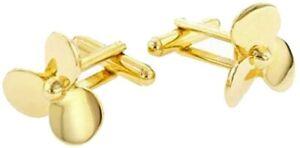 Gold Tone Boat Propeller Cufflinks Cuff Links