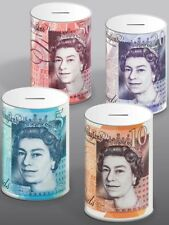 £5 £10 £20 £50 Pound Note Design Kids Money Box Tin Saving Cash BRAND NEW UK