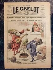 Le Grelot Journal satirique 9 aout 1891 Evolution de l'église vers la République