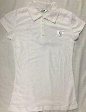 New Womens Fox Racing Polo Shirt Sz XS White Ladies Cotton Fox Riders T-Shirt
