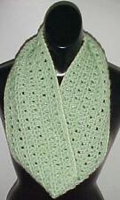 Hand Crochet Loop Infinity Circle Scarf/Neckwarmer #111 Sage New