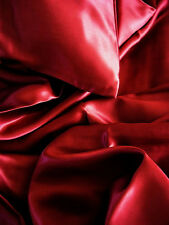 4 pc 100% silk charmeuse sheets set Full Burgundy  red by Feeling Pampered