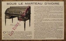 Article Encheres bureau a cylindre,Maitre Ader, prix divers  1934 , clipping