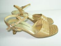 WOMENS TAN CAMEL BONE SLINGBACK CAREER SANDALS COMFORT HEELS SHOES SIZE 7 M
