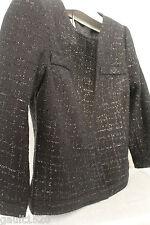 NWT Laundry by Shelli Segal Designer Jacket Sexy Black Elegant Dress Coat 2 $245