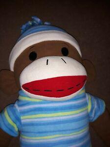 "48"" DanDee Collector Choice Giant Oversize Plush Sock Monkey Animal Hat & Shirt"