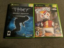 Sneakers, & Thief deadly shadows. Microsoft Xbox. 2 game bundle. Tested!!!