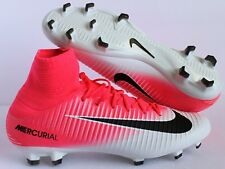 Nike Mercurial Veloce III DF FG 3 Soccer Cleats Pink-White SZ 11.5 [831961-601]
