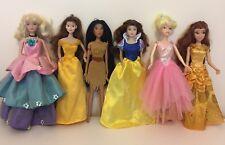 Disney Princess Dolls Bundle - 6 Princesses With Clothes/dresses
