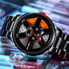 Men Car Wheel Rim Design Watch For Car Fans Style Nissan GTR Nismo TE37 BBS Benz