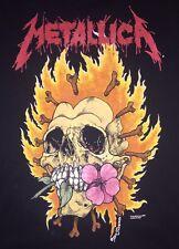 90s Vintage Metallica Shirt Original Tour Concert Pushead Rock FOG Metal Band LS