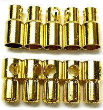 C0601x5 RC Connector 6mm Gold Plated Male and Female Bullet Banana x 5 Set