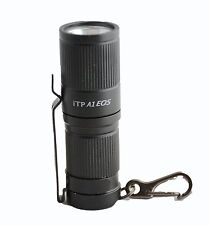 iTP A1 EOS CREE XP-G2 250 Lumen Keychain Flashlight 3-Levers of Outputs, Black