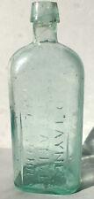 Antique Aqua Medicine Bottle, Pontil,  Dr. D. Jaynes Alternative Philadelphia