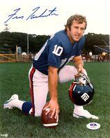 Fran Tarkenton autographed signed 8x10 NFL New York Giants PSA COA Vikings