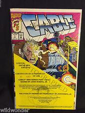 Cable #1 S&N (#1251) Signed John Romita Jr. Treasures Edition 1992 Deadpool 2