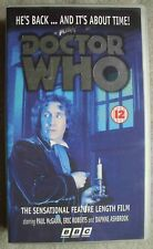 Vintage Doctor Who video VHS Pal - feature length film - the 8th Dr Paul McGann