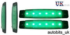 2 x LED 12V VERDE MARCATORE LATERALE LUCE CAMION RIMORCHIO AUTOCARRO CHASSIS TRANSPORTER