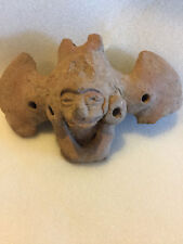 "PRE COLUMBIAN  WINGED BAT  WHISTLE AUTHENTIC MAYAN CLASSIC PERIOD 5.5"" X 3.5"""
