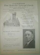 Lancaster Pa, First Methodist Episcopal Church, Jan 16th 1927, Church Program