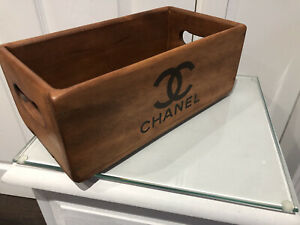 26cm Wooden Vintage Style Storage Box Chanel