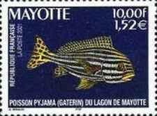 Timbre Poissons Mayotte 102 ** année 2001 lot 22638