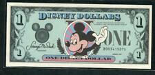 *1987 DISNEY 1 DOLLAR W/ MICKEY MOUSE CH. UNC. & ENVELOPE  PLEASE LQQK!