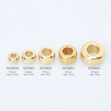Brass Round Spacer Beads Jewellery Making Beads Metal Spacer Findings 100pcs