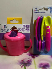 BOOTS 4FEEDING SPOONS & BABY FREE FLOW CUP FOR YOUR CHILD