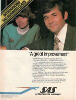 1962 Original Advertising' SAS Scandinavian Airlines System Company Aerial A Gre